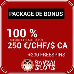 Bonus et offres promotionnelles